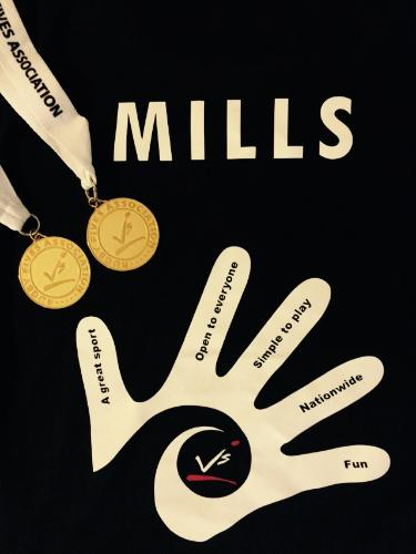 Tessa's T-shirt with medals