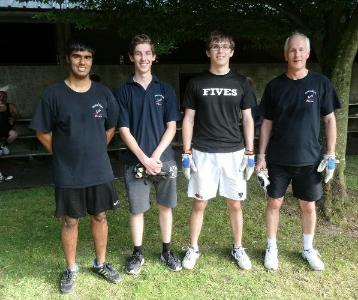 Doubles Plate finalists - all from Derby Moor Fives