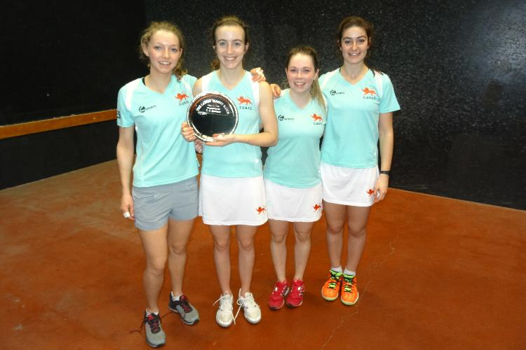 The victorious Cambridge Ladies with the Silver Salver