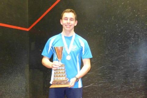 The winner of the U18 Singles from Edinburgh Academy