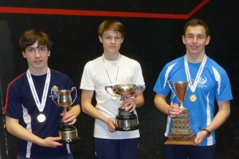 The three winners of Singles titles