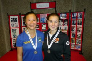 The silver medallists