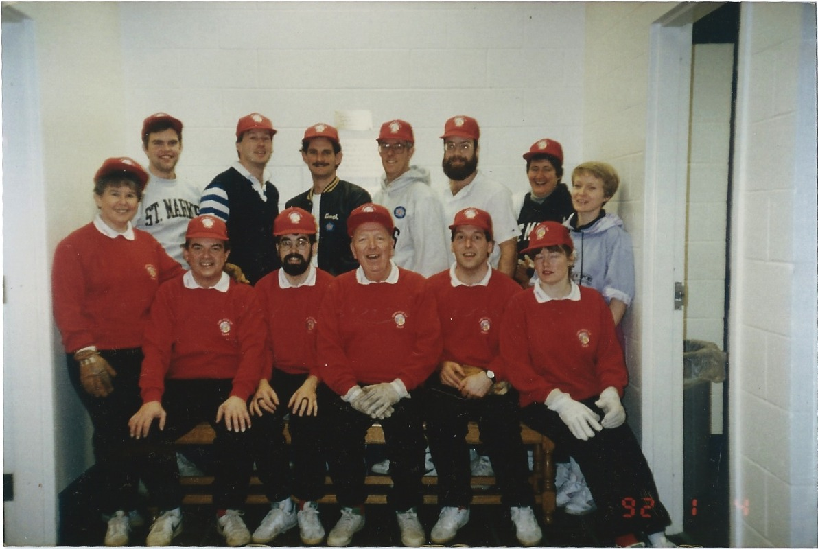 1992 UK touring team (in red)