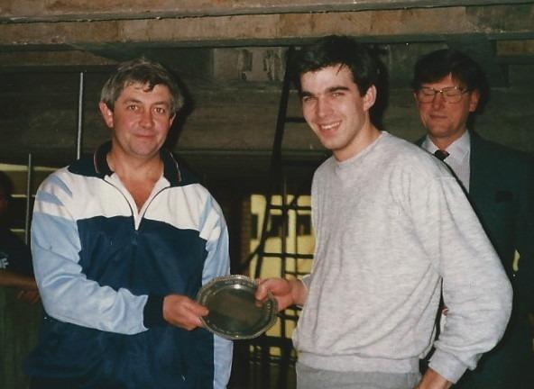 Rick Wilson with Bruce Hanton, winners of the Mate's Plate 1987