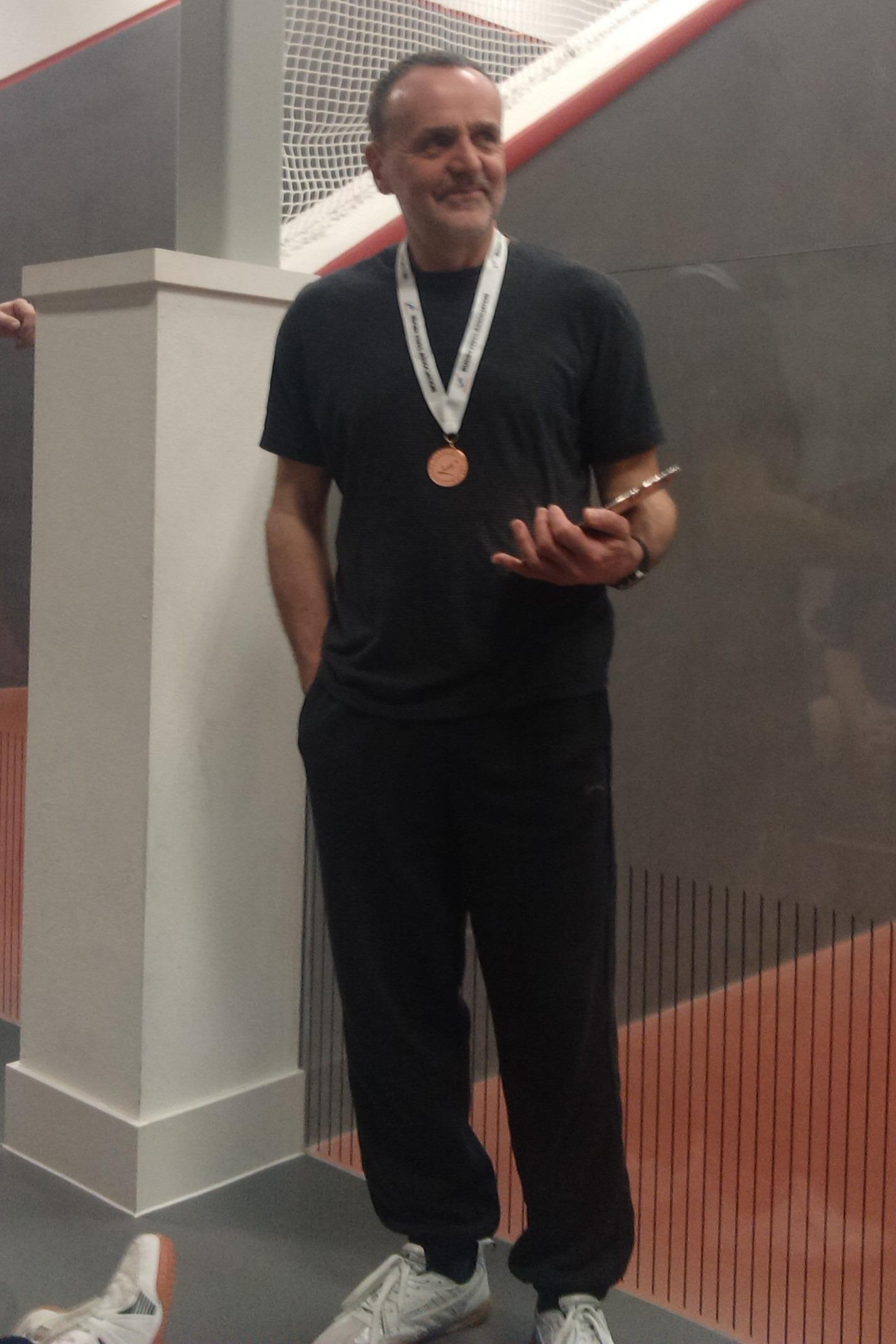 Organiser and Singles Plate winner Brian Kirk