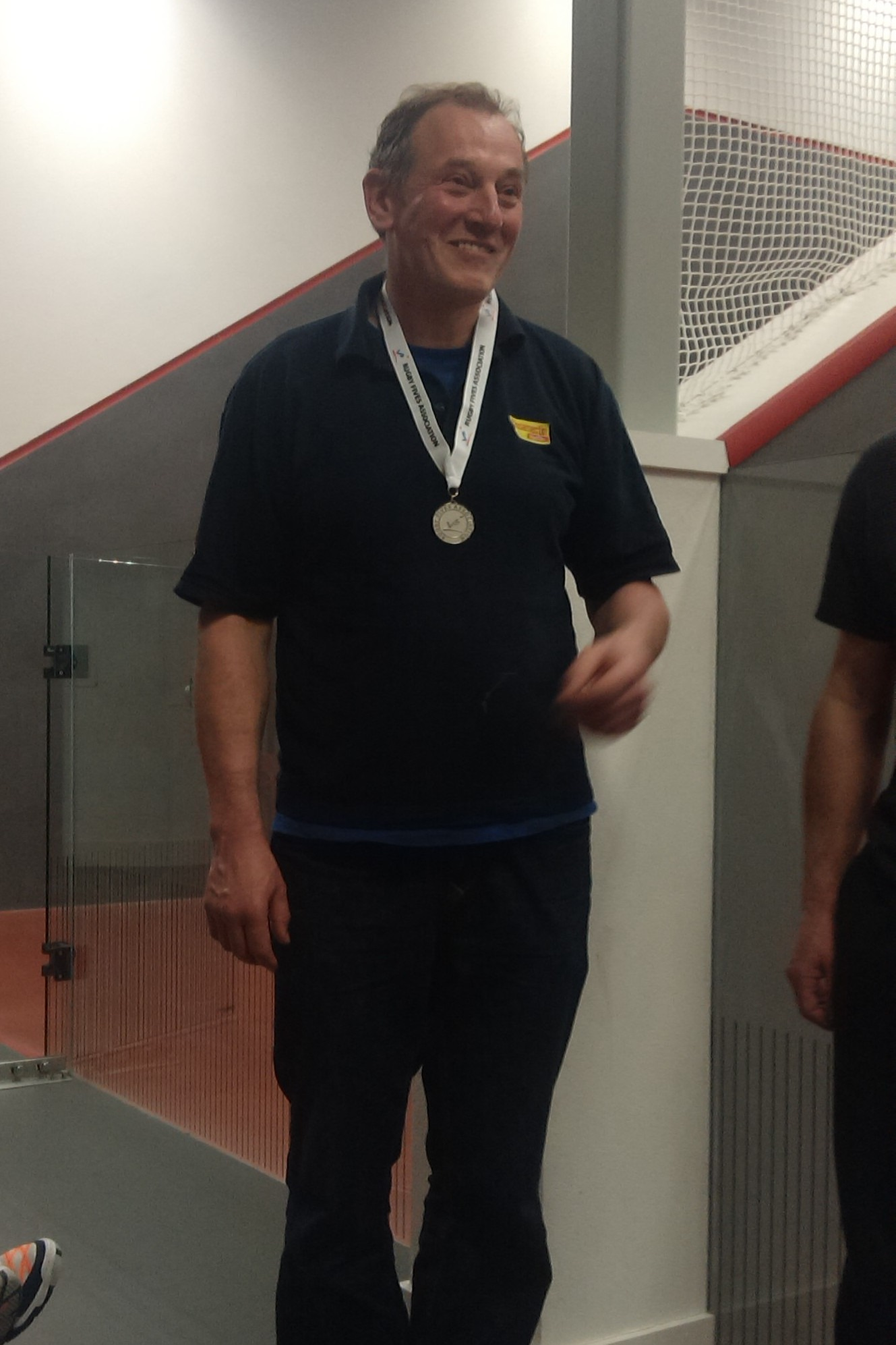The ever-smiling Singles silver medallist Neil Roberts