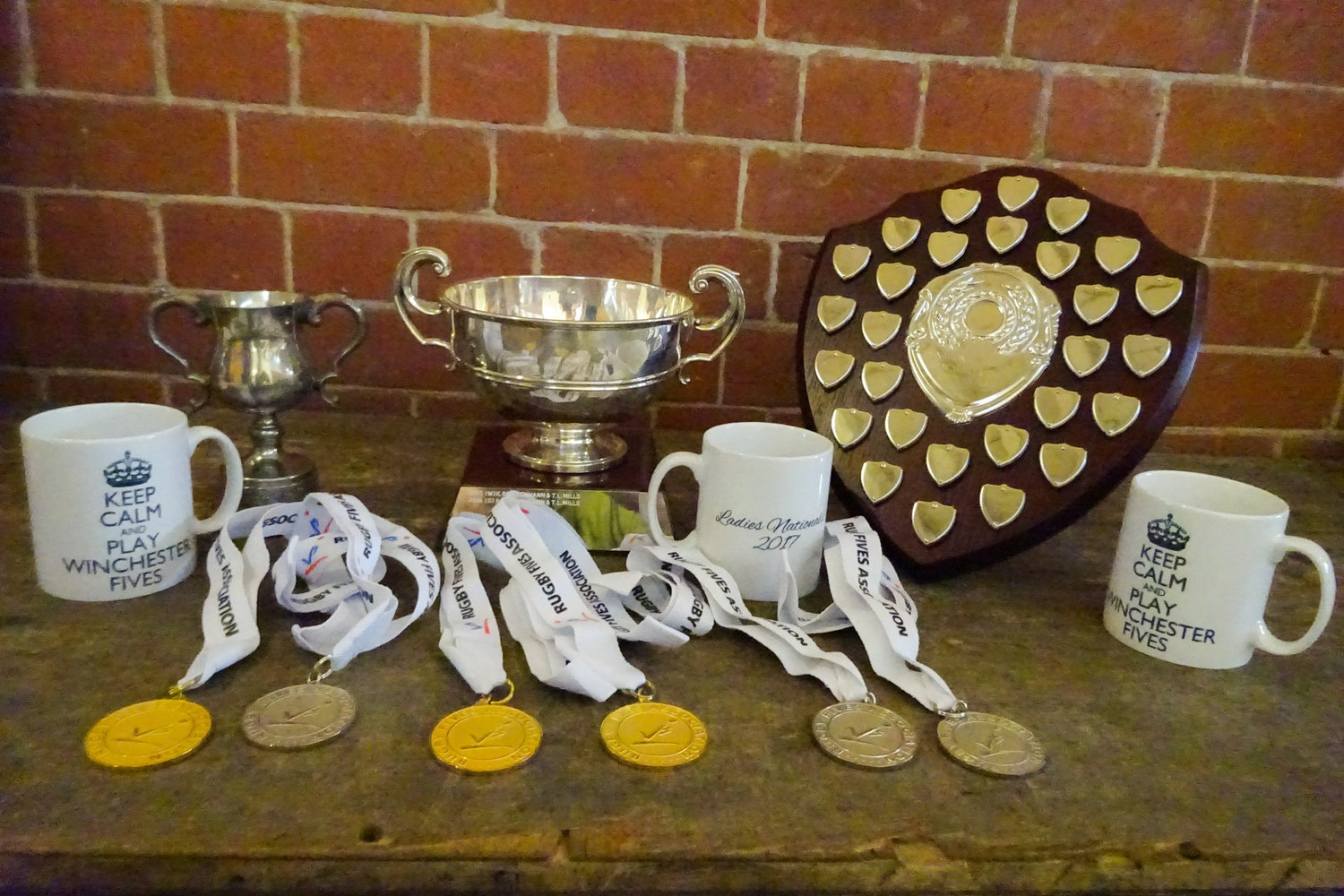 Mugs, medals and trophies