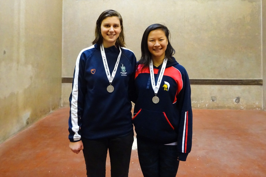 Silver medallists Amelia & Shinan