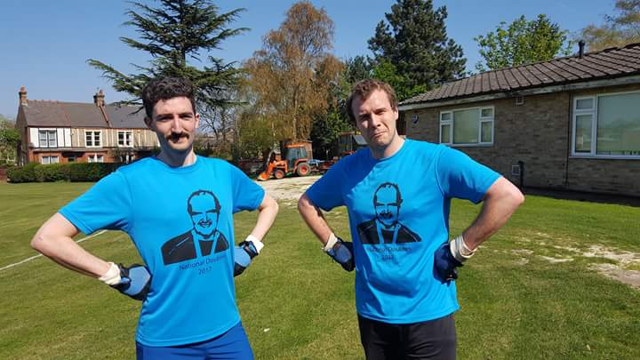 Rocco Sulkin & Ed Carr  modelling the Cyriax 2017 t-shirt