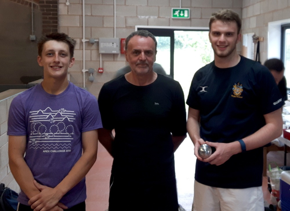Plate winners Lewis Keates and Michael Suddaby