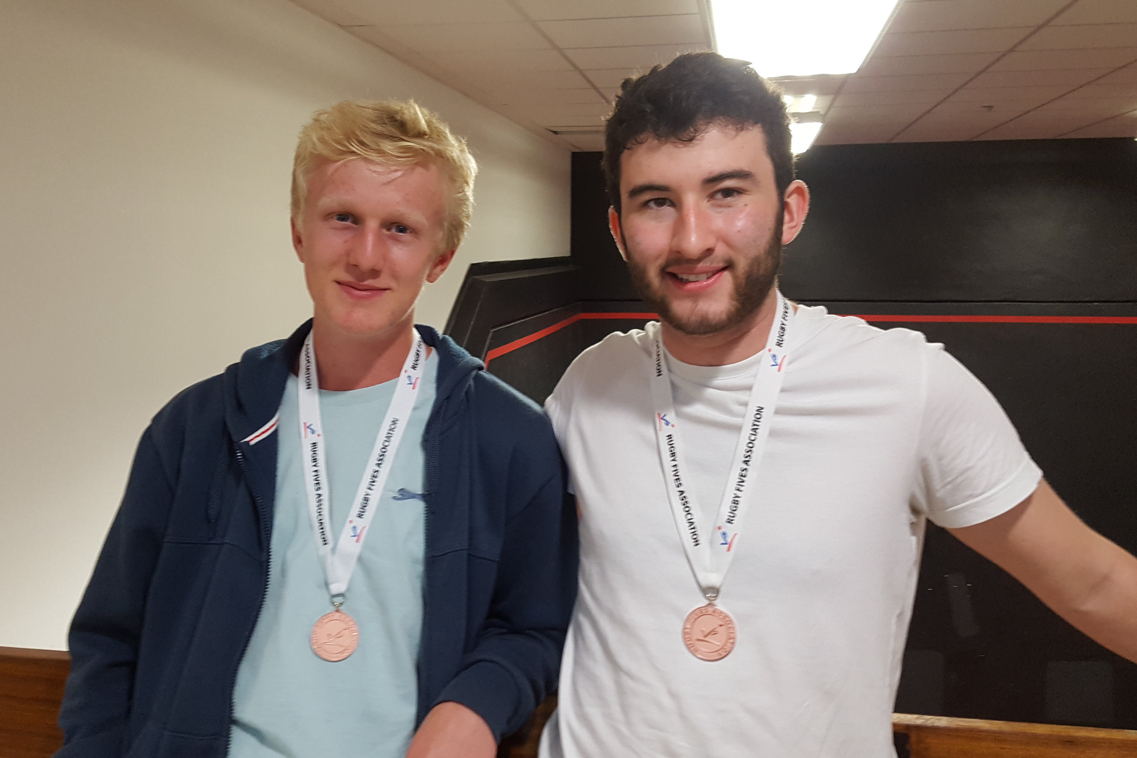 The young Doubles Plate winners