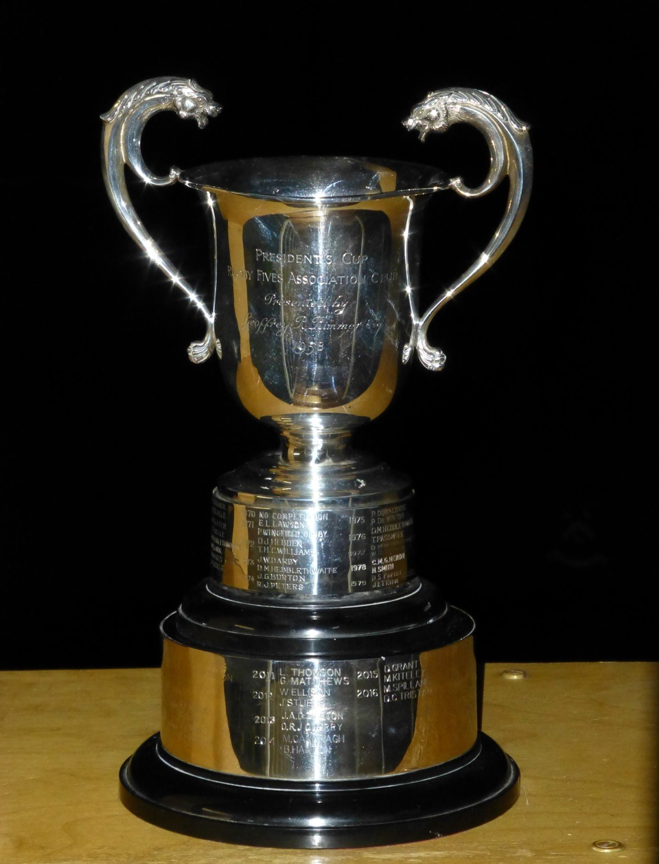 The President's Cup in all its glory
