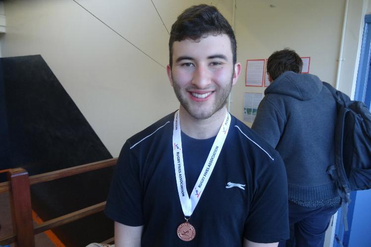 Singles Plate winner Julian Hanton