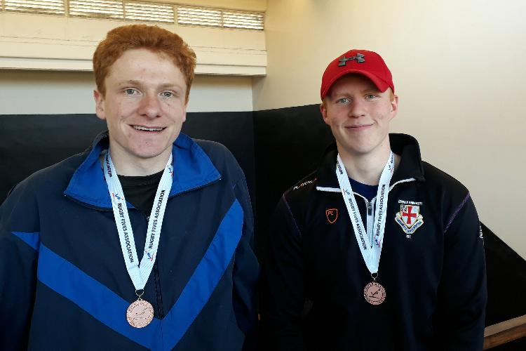 Archie & John win the Doubles Plate for the University Club