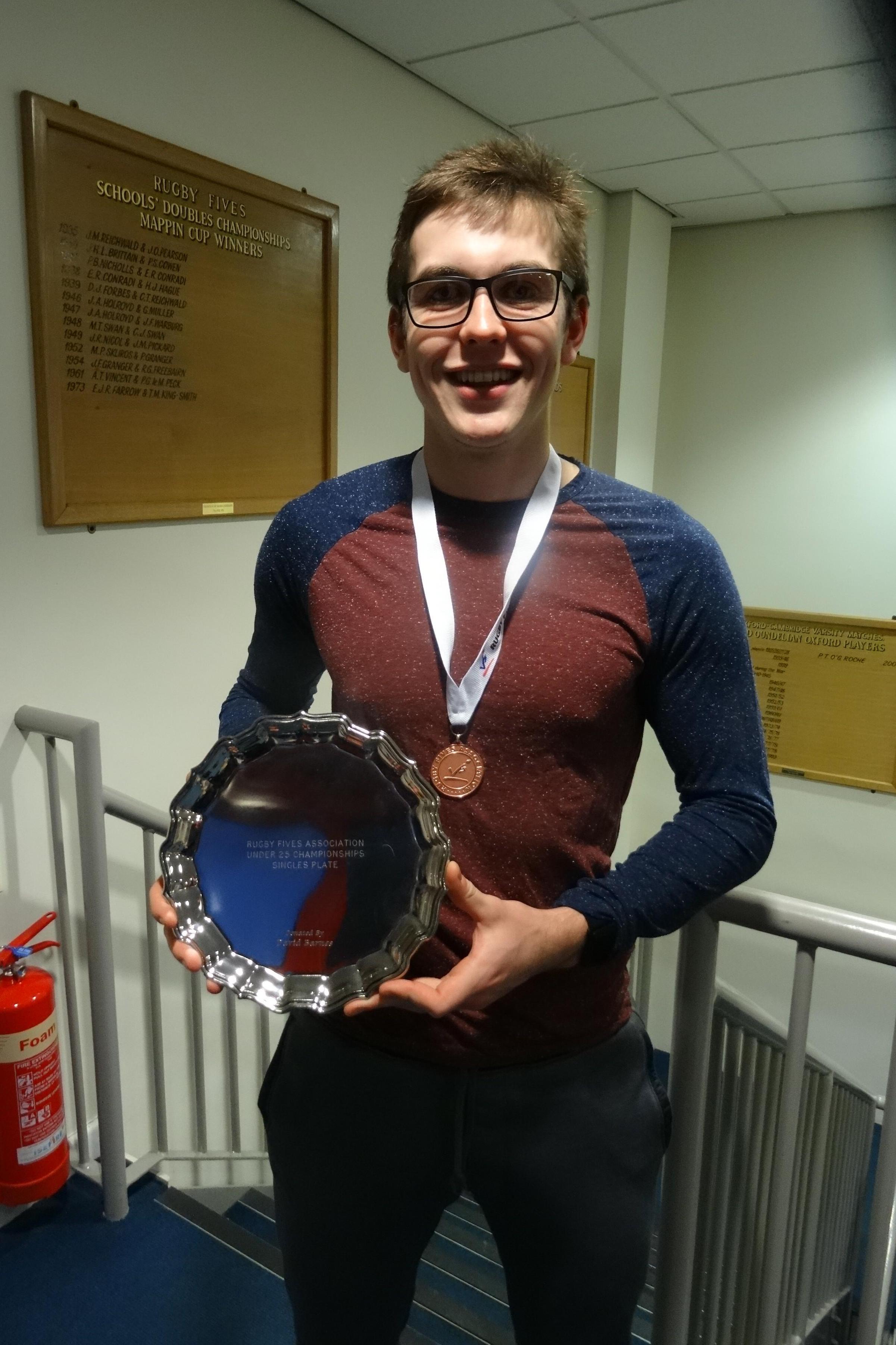 Singles Plate winner Tom Watkinson